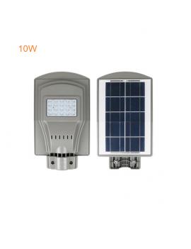 Foco Led  Calle 10w con Panel Solar, Bateria Litio Sensor Movimiento