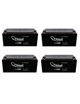 Pack x 4 Baterias Ciclo Profundo Chisol 200Ah - 12V VRLA Deep Cycle