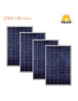 Pack 4 Paneles Solares Fotovoltaico Policristalino 275w 24v 60 Celdas Certificado Sec Caja Individual