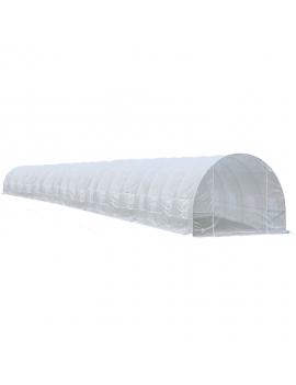 Invernadero armable de 50 metros cuadrados blanco